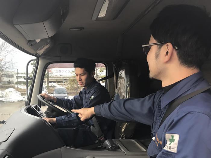 北陸三県食材配送4tトラックドライバー