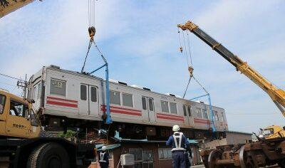 鉄道車両の陸上輸送